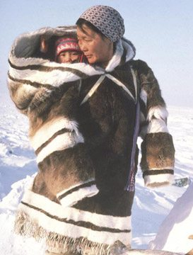Traditional parka used to carry babies are the intellectual property of the inuit people.  Buying cheap copies is not 'honouring' their culture.